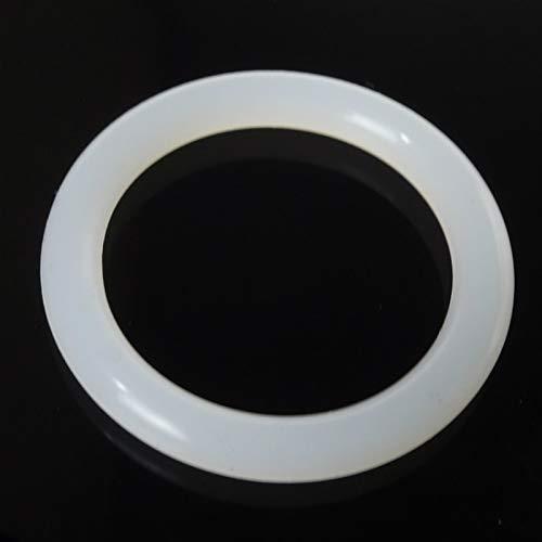 Jinchao-Arandela de Sellado de Junta tórica Lavadora de Sellos de Anillo de Juntas tóricas Sección Transversal 2.4mm OD 8-54mm, Goma de Silicona Blanca, Caucho