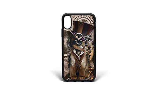 Kaidan Steampunk Cat XS Max iPhone 8 7 Plus Cute Kitten Case Cool Style iPhone X XR 6/6s Plus...