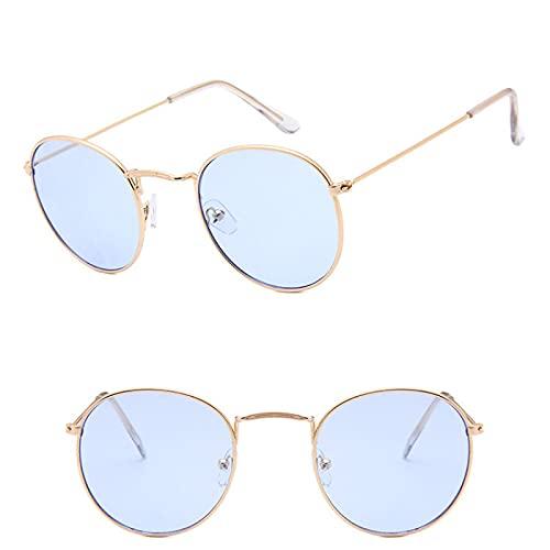 ShSnnwrl Único Gafas de Sol Sunglasses Gafas De Sol Clásicas De Metal para Hombre, Espejo Clásico, Retro, Street Beat, Gafas Redo