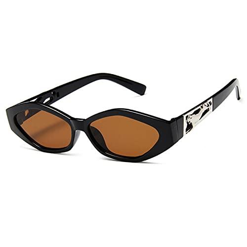 ATARSM Gafas de Sol para Mujer con Estuche de Gafas, Montura pequeña Retro, polígono, Ojos de Gato, Gafas de Sol para Mujer, Gafas de Sol para Mujer Uv400