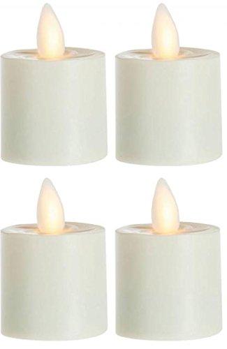 sompex 4er Set Flame LED Teelicht 39000 Elfenbein, fernbedienbar