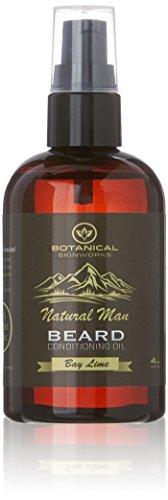 Botanical Skin Works Natural Man Bay Lime Beard Oil, All Natural Beard Conditioner, 4 oz.