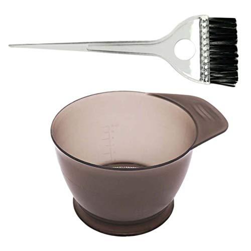 Healifty 2PCS Haarfärbepinsel Set - Professioneller Salon Haarfarbe Mischen Färbeset Haarfärbemittel Färbemittel Haartönungsset, für DIY Haar Färben Werkzeuge Haar