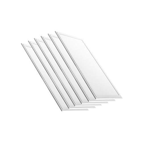 LED Panel 120x30 weiß 45W LED Büroleuchte inkl Trafo 3600lm flaches LED Deckenpanel 120° Wohnzimmer-Lampe (neutralweiß, 6er Pack)