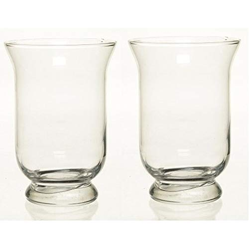 2x Kelk vaas glas 19,5 cm Transparant