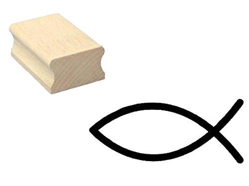 Stempel CHRISTLICHER FISCH - Motivstempel aus Buchenholz