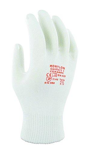 Ansell Monylon Confort 1 multifunctionele handschoenen, mechanische bescherming, wit, 42529, 12