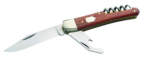Hartkopf-Solingen Erwachsene Taschenmesser, 3-TLG, Stahl 1.4034, Rotholz, Neusilberbacken, Mehrfarbig, One Size