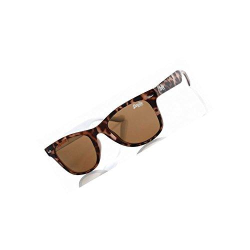 Superdry - Gafas de sol - para hombre Beige Gloss Ponyskin/Cream