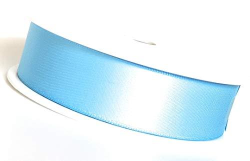 SATINBAND 25m x 25mm HELLBLAU - BLAU (Fb.Nr.152) Schleifenband DOPPELSATIN Geschenkband DEKOBAND