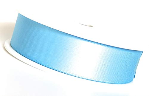 (1 m) = 0,20EUR ruban 25 m x 25 mm-bleu clair-bleu (fb.nr.152) ruban bolduc ruban de sATIN