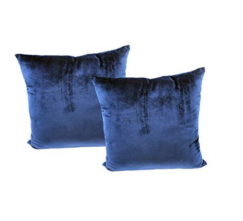 Montanchezz - Federa per cuscino, 45 x 45 cm, in velluto olandese Nordic, colori caldi e soldi, stile moderno ed elegante., Unisex - Adulto, blu