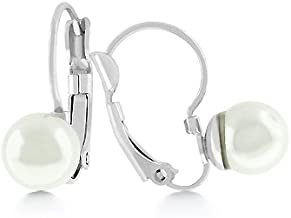 JGOODIN Shell Pearl Stud Earrings