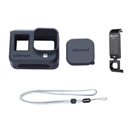 LICHIFIT Silikonhülle Schutzhülle Gehäuse mit aufladbarem Akkudeckel für GoPro Hero Black 8 Sportkamera Zubehör