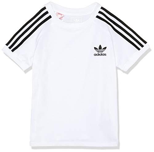 adidas Jungen California T-Shirt, White/Black, 128