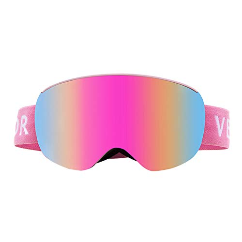Nengge Skibril, met verwisselbare lens, anti-condens, UV-bescherming, voor vrouwen en meisjes, kinderen