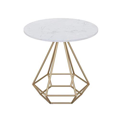 YNN Table Fin Fin Table D'appoint Table Basse Table Basse Table De Salle À Manger Bureau Labtop Salon en Marbre avec Cadre en Métal Or Noir 50 * 50cm (Couleur : Or)