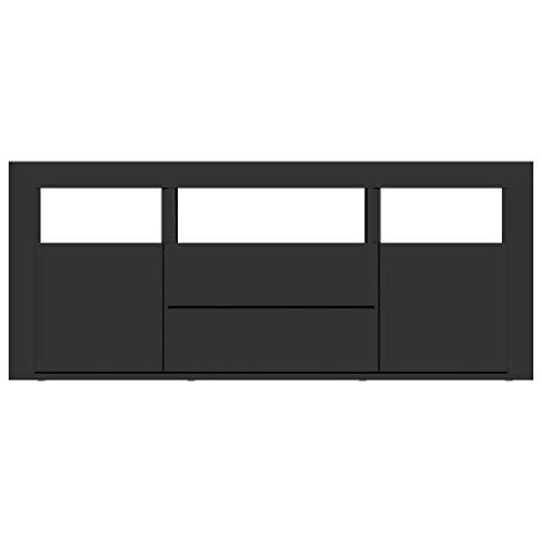 Goliraya TV-Schrank Fernsehschrank TV M?Bel Fernsehtisch 120 x 30 x 50 cm Mit 2 Schubladen, 2 Türen und 3 offenen F?Chern,Wohnzimmertisch Beistelltisch TV Lowboard aus Spanplatte