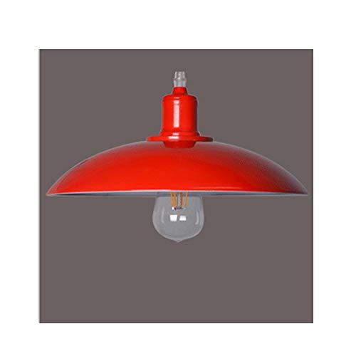 E27 Metallo Moderno Lampadario Lampada Illuminazione a Sospensione Plafoniera Pendente da Soffitto Rosso, per Cucina Soggiorno Camera da Letto