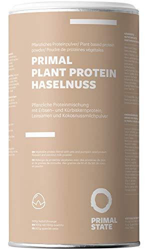 Pflanzliches Proteinpulver mit Haselnussgeschmack - Lupinenprotein, Hanfproteinpulver, Erbsen Proteinpulver, Reisprotein, Sonnenblumenkernprotein und fettarmem Kakaopulver - Vegan Protein