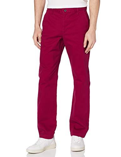 Amazon-Marke: MERAKI Herren Baumwoll Regular Fit Chino Hose, Rot (Beet Red), 33W / 32L, Label: 33W / 32L