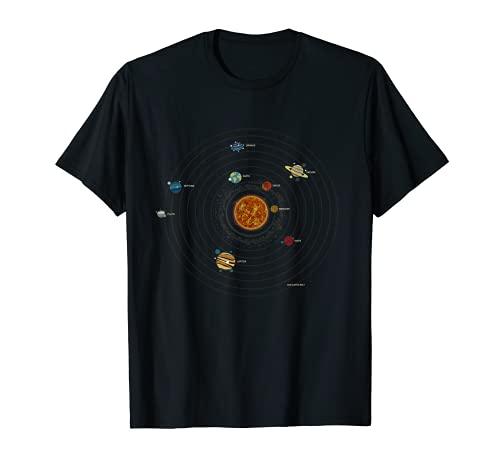 Astronomie Sonnensystem Galaxie, Universum, Kosmos T-Shirt