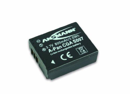 ANSMANN 5022963 Panasonic CGA-S 007 E/1B Li-Ion Digicam Ersatzakku mit 3,7V/800mAh für Panasonic Foto Digitalkameras
