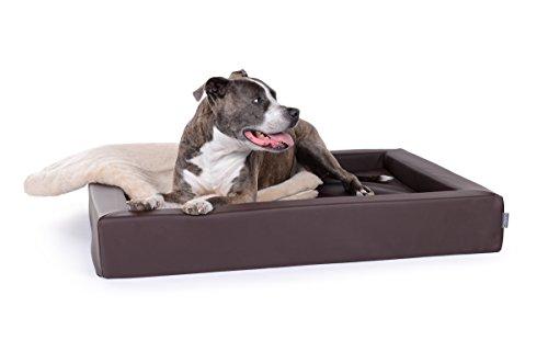 Hundebett Harko Kunstleder 100 x 80 cm, Standard Schaumstoff