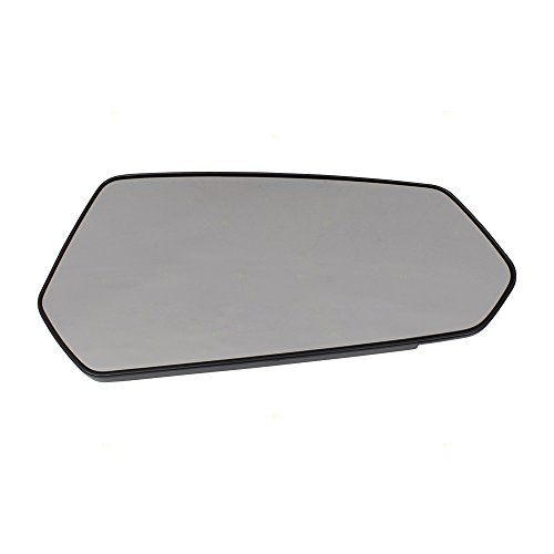 Aftermarket Replacement Passengers Side View Mirror Glass & Base Compatible with 10-15 Camaro 92235873