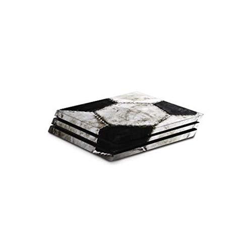 """Hama Design-Skin """"Soccer"""" kompatibel für PlayStation 4 PRO (Folien-Set im Fußball-Design für PS4 PRO Konsole und 2 Controller, rückstandslos entfernbar) Designfolie, Gehäuse-Aufkleber"""