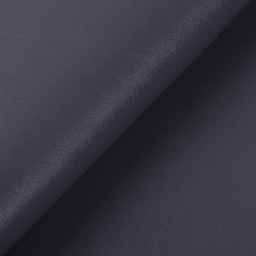 Fxhyy Material De Tapicería De Piel Sintética Textura Napa Decoraciones Parche De Cuero Sombrero De Bolso Bolsa Blanda Asientos De Equipaje 1mx1,4m De Piel Sintética por El Metro(Color:Gris Oscuro)
