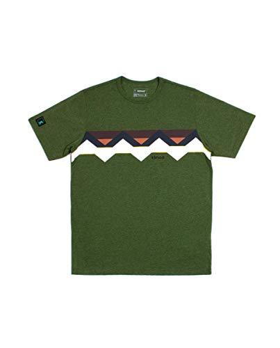 Kimoa Camiseta Front Multicolour Band Verde, Unisex Adulto, XL