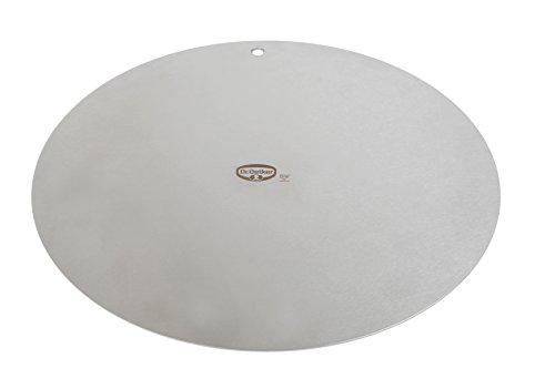 Dr. Oetker Deko- und Transportplatte, Ø32cm, Küchenhelfer aus hochwertigem Edelstahl, beidseitig verwendbar, stabile und langlebige Platte, Menge: 1 Stück, Farbe: silber