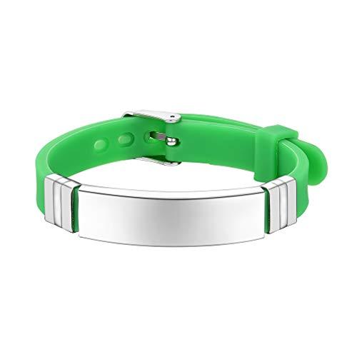 Bracelet prénom personnalisé, Message ID Médical Bracelet Silicone Réglable, Caoutchouc Bracelet d'urgence SOS