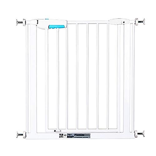 YXZQ Narrow Baby Gate Barrières de sécurité intérieures montées sous Pression pour escaliers Couloir Porte White Easy Open 57-73cm Wide (Size: 57-65cm)