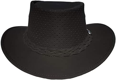 Aussie Chiller Outback Bushie Perforated Hat for All Seasons Made in Australia Black XL product image