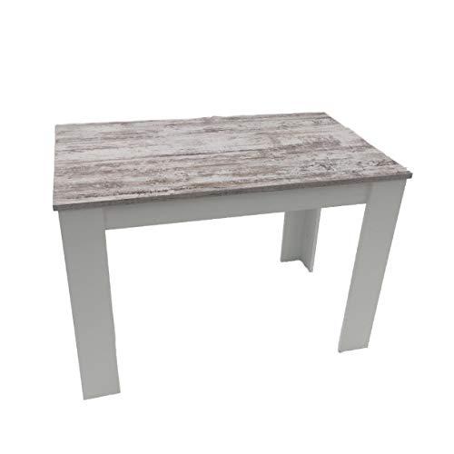 Möbel SD Esszimmertisch Canyon White Pine /Weiß110x70cm