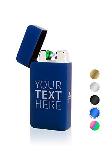 TESLA Lighter T10 Lichtbogen Feuerzeug, mit Wunsch-Gravur, personalisiert als Geschenk zu Weihnachten, Geburtstag etc. Elektronisches Feuerzeug, wiederaufladbar per USB inkl. Geschenkverpackung