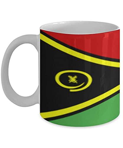N\A Vanuatu Flagge 11oz weiße Kaffeetasse Teetasse Native Heritage
