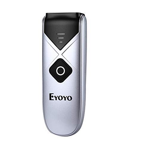 Eyoyo 1D Barcode-Scanner, Mini-CCD Barcode-Lesegerät mit 3-in-1-Verbindung, USB-Kabel/Bluetooth/2.4 G, kabellos, Display-Scanner für Handy, Tablets, PC, iOS und Android