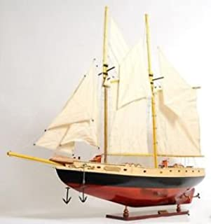 Schooner Bluenose Ii Wood Ship Model Sailboat 38