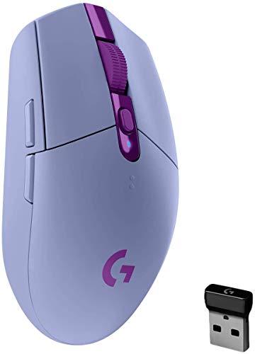 Logitech G305 LIGHTSPEED Ratón Gaming Inalámbrico, Captor HERO 12K, 12,000 DPI, Batería de 250h, 6 Botones Programables, Memoría Integrada, PC, Mac, Lila