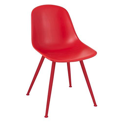 Paris Prix - Chaise Design béa 83cm Rouge
