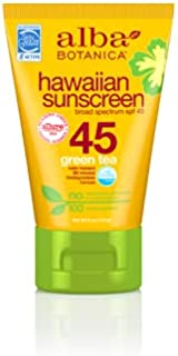 Alba Botanica Hawaiian Natural Sunscreen with Green Tea SPF 45 4 fl oz (113 g)