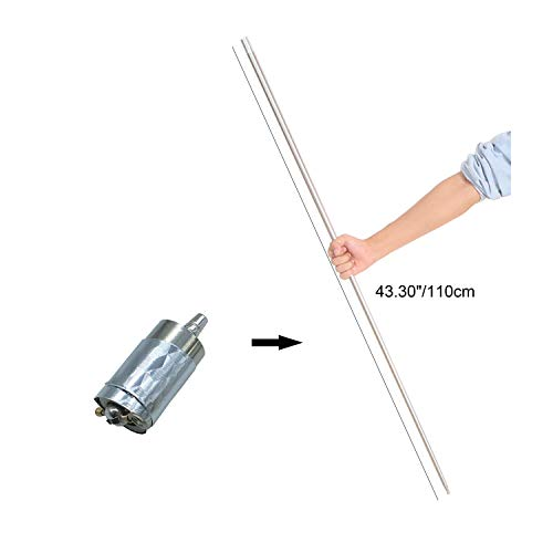 Kingmagic Metal Appearing Cane Magic Wand for Professional Magician Use Only for Adult Stage Magic Trick Magic Gimmick Illusion Silk to Wand With Video Tutorial (Silver,43.30'/110cm)