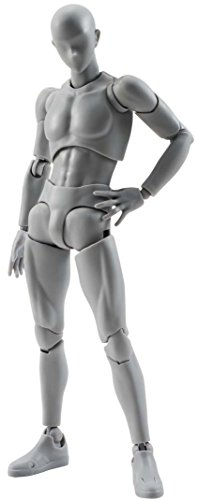 Bandai - Figurine S.H.Figuarts - Body Kun (Male) DX Set Grey Color Version - 4549660040880