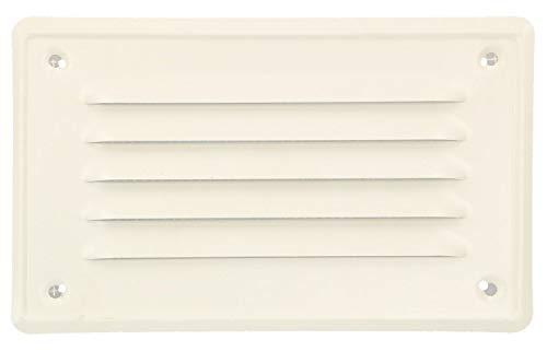KOTARBAU® Lüftungsgitter 165x100 mm Abluftgitter Einschrauben Lackiert Kamin Belüftung Weiß Insektschutzgitter beständig gegen Korrosion
