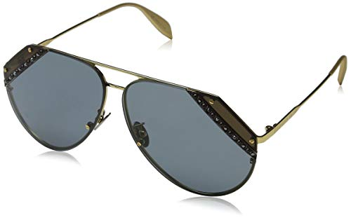 Alexander McQueen AM0117S 003 65 Gafas de sol, Dorado (003-Gold/Bluee), Mujer