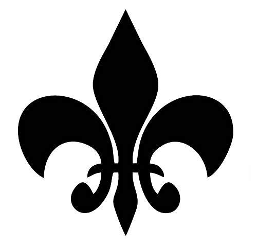 CCI Fleur De Lis Iris Royal Arms France Decal Vinyl Sticker|Cars Trucks Vans Walls Laptop|Black |5.5 x 5.5 in|CCI2012