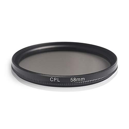 Ares Foto® CPL Zirkular-Polfilter Polarisationsfilter, optisches Glas & Aluminium. Für Canon Sony Nikon Fujifilm Pentax Tamron Sigma Leica Olympus Panasonic (58mm)